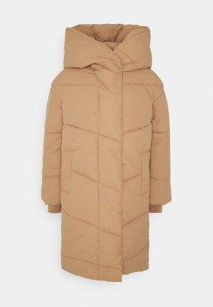 NMTALLY LONG JACKET - Winter coat - tigers eye