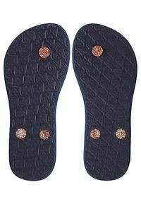 Roxy - T-bar sandals - true navy/gold - 2