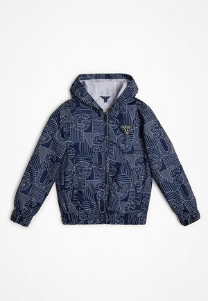 GIACCA STAMPA ALL OVER - Light jacket - blu