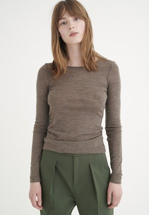 FANGIW  - Topper langermet - brown melange