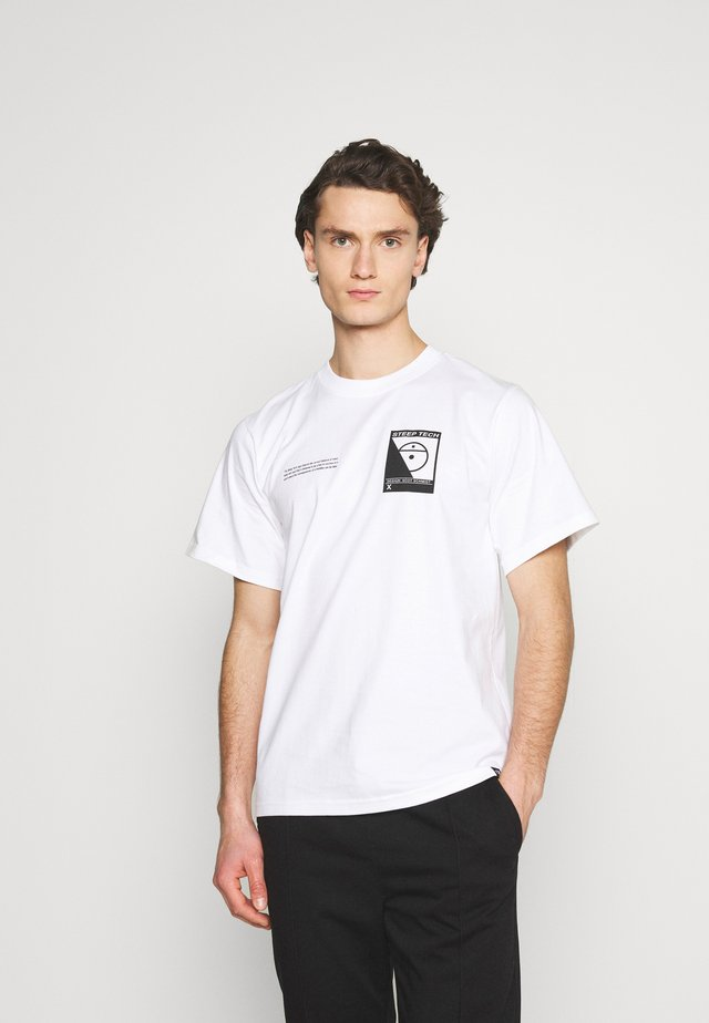STEEP TECH LOGO TEE UNISEX  - T-shirt print - white