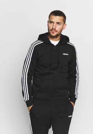 Zip-up hoodie - black/white