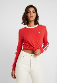 adidas Originals - Langærmede T-shirts - lush red/white - 0