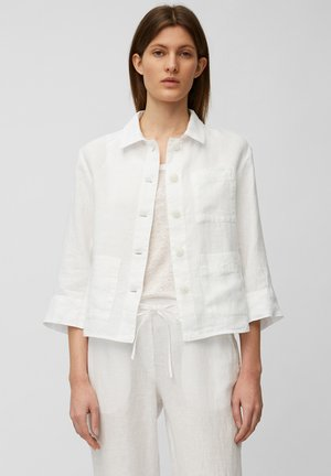 Denim jacket - white linen