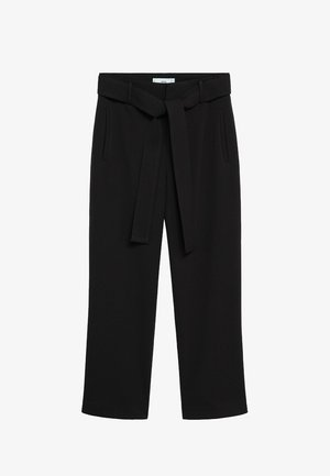 FLOREN - Trousers - black