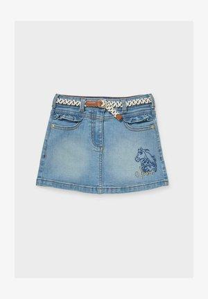 A-line skirt - denim-light blue