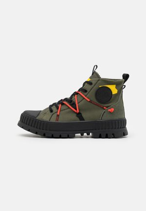 PALLASHOCK RE-CRAFT UNISEX - Lace-up ankle boots - olive night