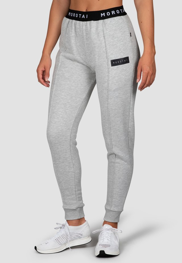 CROPPED PLEAT  - Tracksuit bottoms - hellgrau