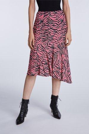 A-line skirt - pink grey