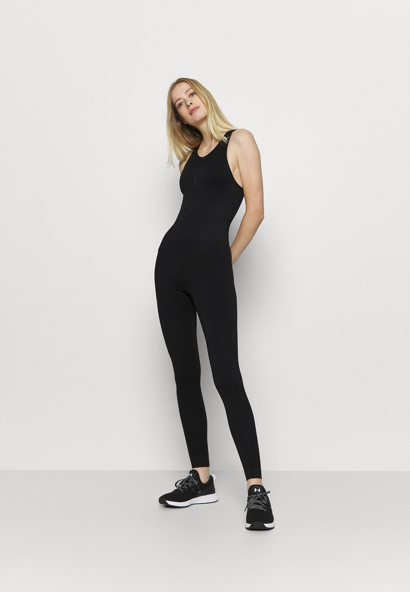 NU-IN - ZIP UP LONG BODYSUIT - Gym suit - black