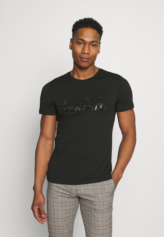 WITH LOGO - T-shirt con stampa - nero