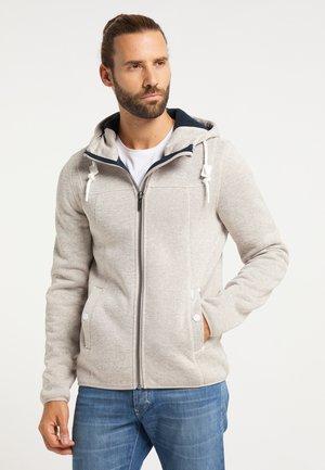 Zip-up hoodie - elfenbein melange