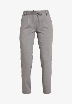 KNITTED TRACK PANTS - Trousers - mid grey melange