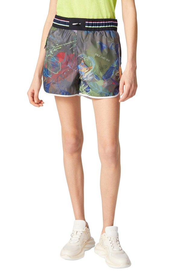 Swimming shorts - khaki rot blau