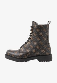 Guess - TALISI - Lace-up ankle boots - brown/ocra - 1