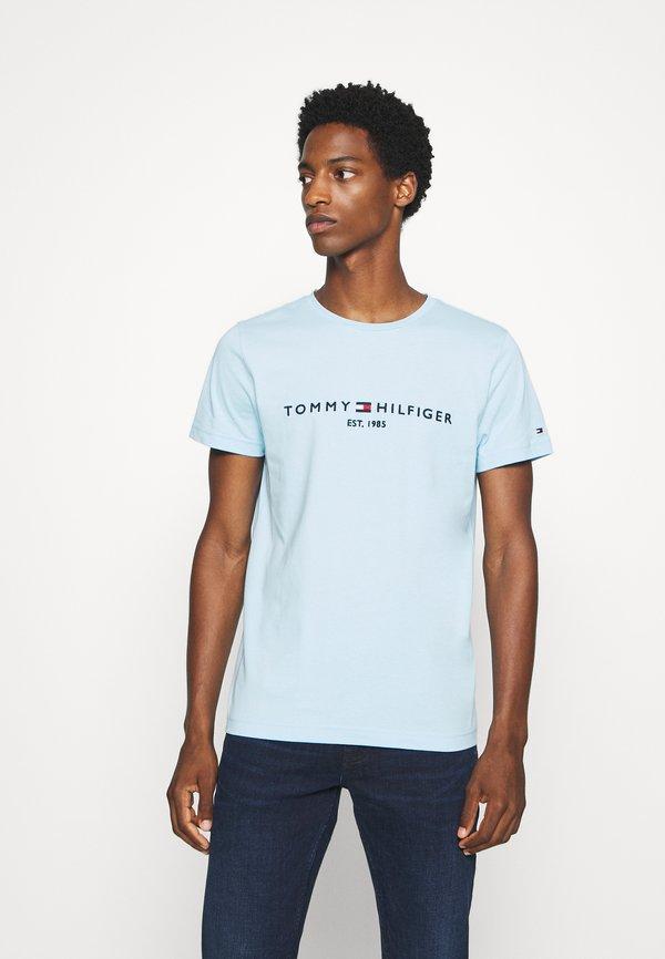 Tommy Hilfiger LOGO TEE - T-shirt z nadrukiem - blue/jasnoniebieski Odzież Męska PKNH