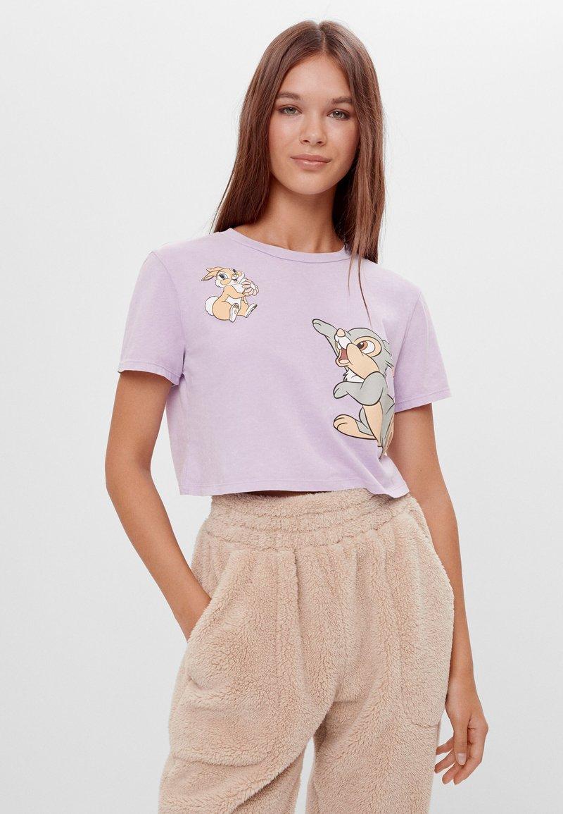 Bershka - DISNEY'S BAMBI - Print T-shirt - mauve