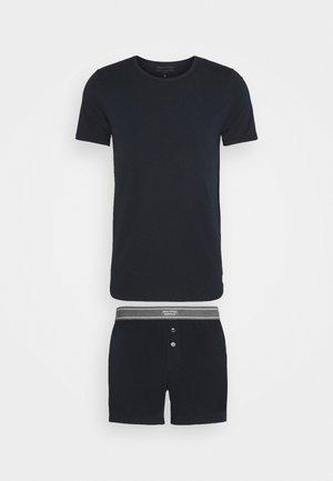 CREW NECK - Pyjama top - nachtblau