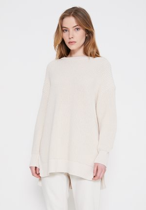 LONGSLEEVE ROUND NECK - Svetr - natural white