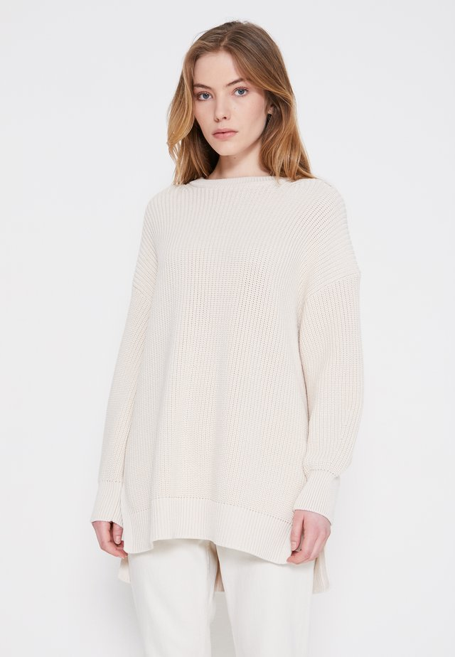LONGSLEEVE ROUND NECK - Maglione - natural white