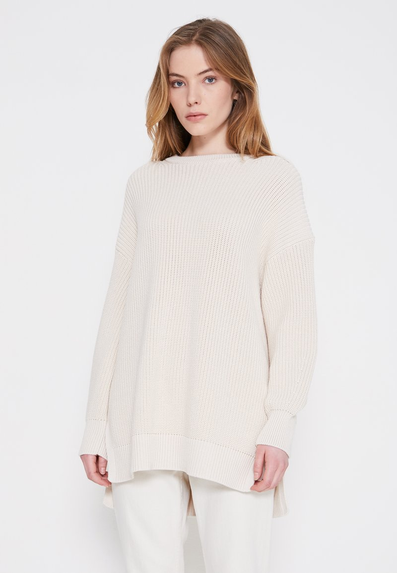 Marc O'Polo - LONGSLEEVE ROUND NECK - Jumper - natural white