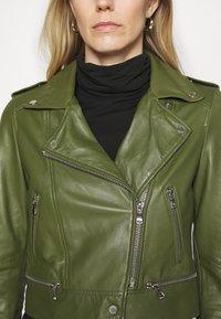 Oakwood - YOKO - Kožená bunda - green - 3