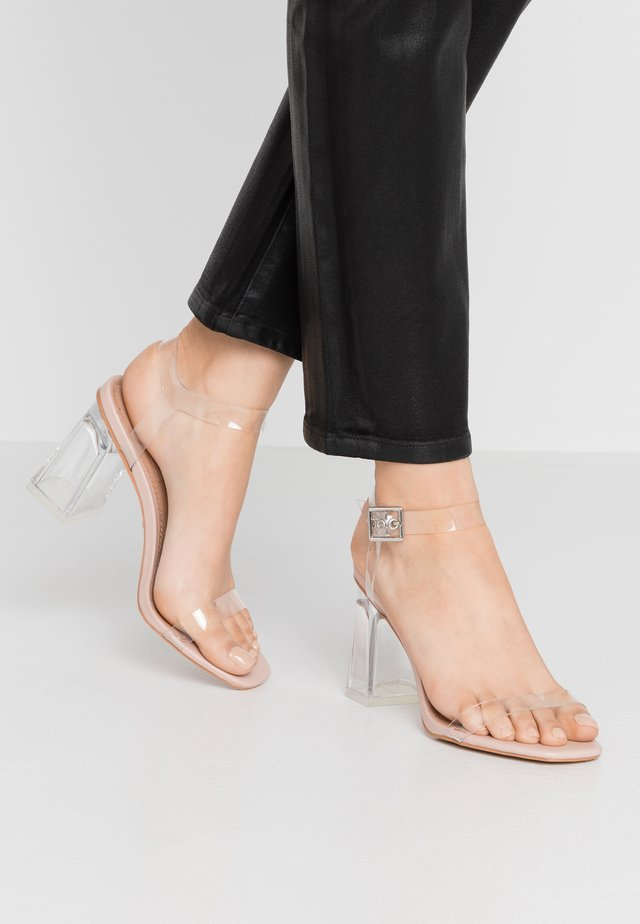 SONIA PERSPEX BLOCK - High heeled sandals - nude