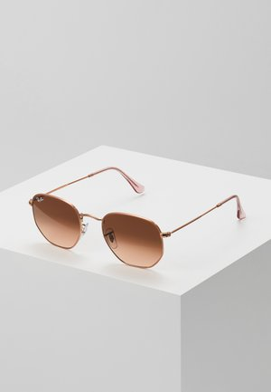 Sonnenbrille - pink gradient brown