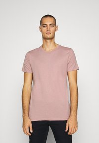 Burton Menswear London - SHORT SLEEVE CREW 7 PACK  - T-shirt basic - black/white/charcoal/navy/burgundy/dusty olive - 3