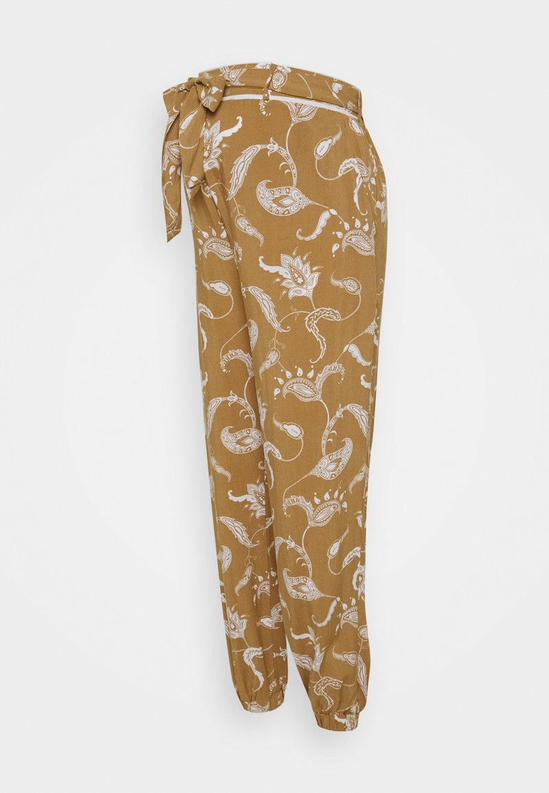 Glamorous Bloom - CUFFED TROUSERS WITH TIE BELT - Bukser - brown