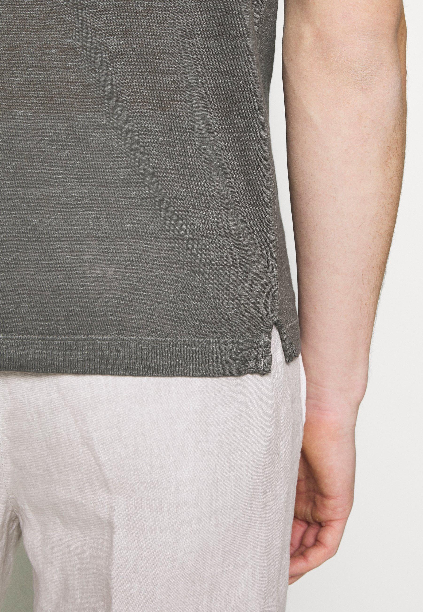 120% Lino Poloskjorter - elephant sof fade
