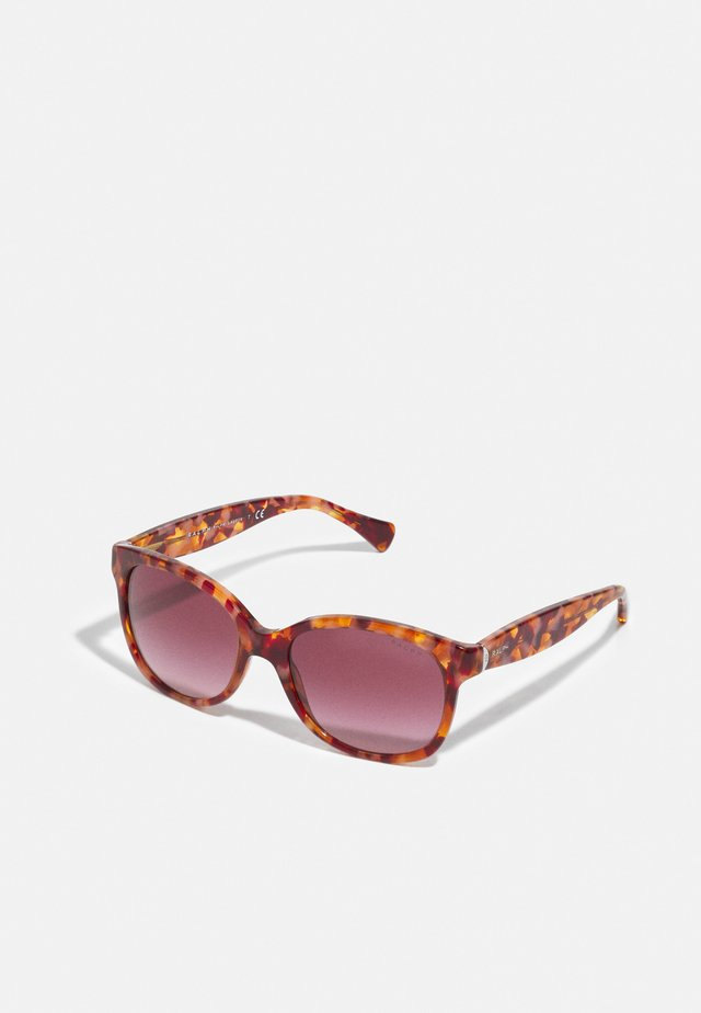 Sunglasses - shiny spotted red