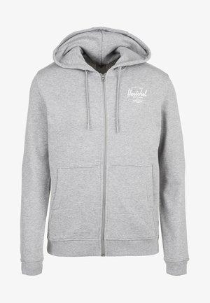 Zip-up hoodie - heather grey/white