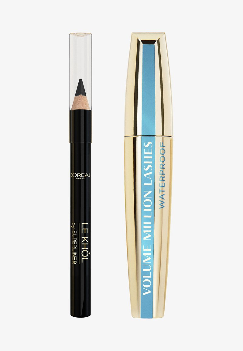 L'Oréal Paris - MASCARA-SET: VOLUME MILLION LASHES WATERPROOF + SUPERLINER LE KHÔL MINI - Makeup set - -