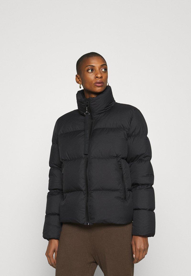 Marc O'Polo - PUFFER JACKET SHORT STAND UP COLLAR ZIPP - Down jacket - black
