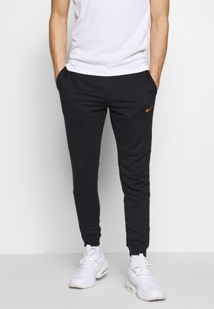 DRY PANT - Trainingsbroek - black/hyper crimson