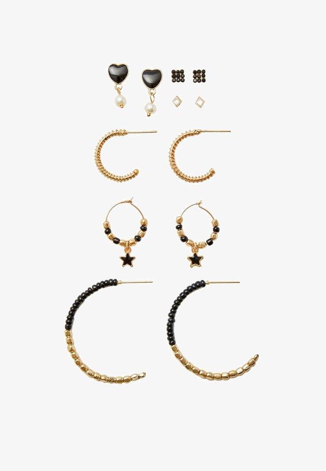 6 SET - Boucles d'oreilles - black