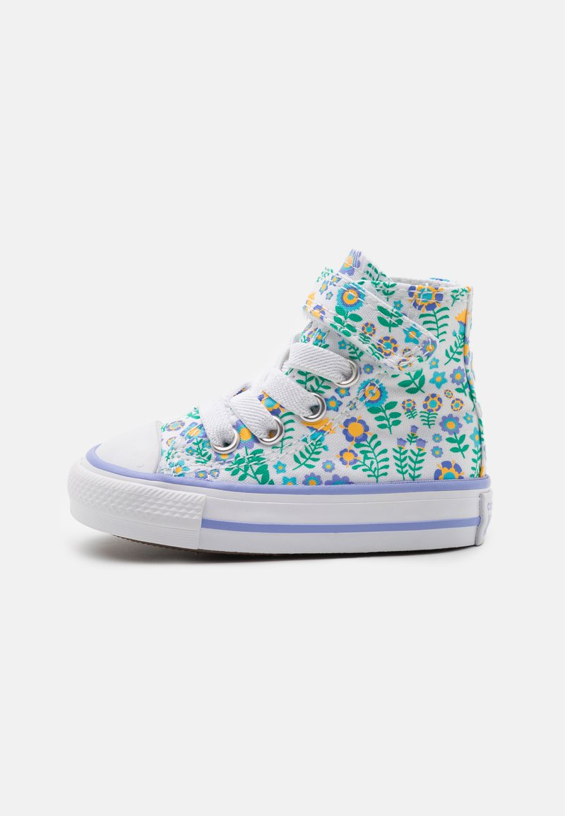 Converse - CHUCK TAYLOR ALL STAR - High-top trainers - white/twilight pulse/citron pulse