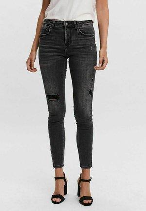JEANS VMTILDE NORMAL WAIST - Jeans Skinny - dark grey denim