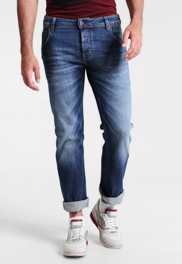 MICHIGAN STRAIGHT - Jeans straight leg - light scratched used