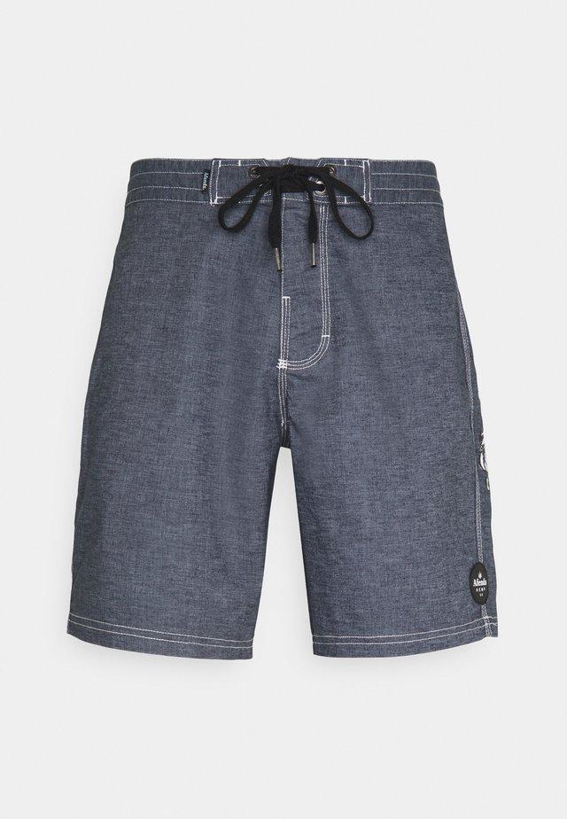 BURNT OUT HEMP FIXED WAIST - Shorts - midnight