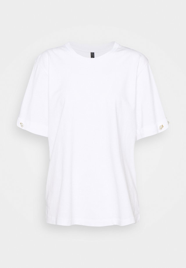 PEARL BAR SLEEVE - T-shirt basique - white