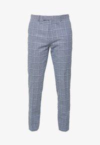 TROUSER SLIM - Suit trousers - mid blue