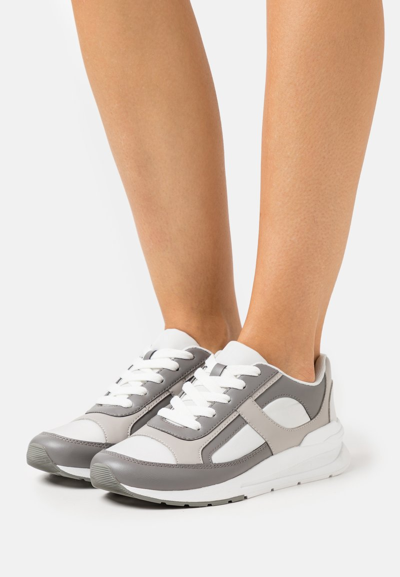 Monki - VEGAN ETHAN - Matalavartiset tennarit - grey