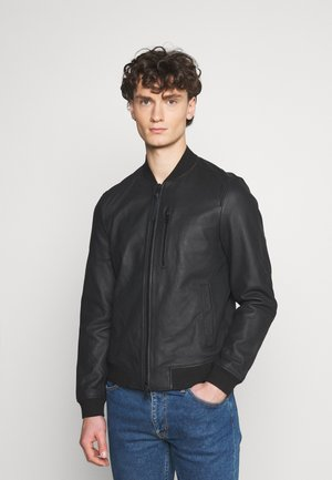 IVOR - Leather jacket - black