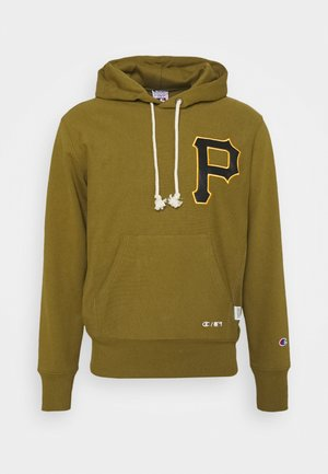 MLB PREMIUM PITTSBURGH PIRATES HOODED - Mikina s kapucí - mottled olive