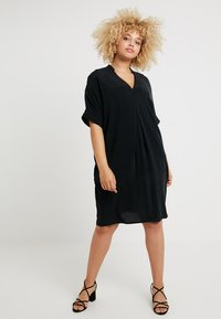 Live Unlimited London - MANDARIN COLLAR DRESS - Day dress - black - 1