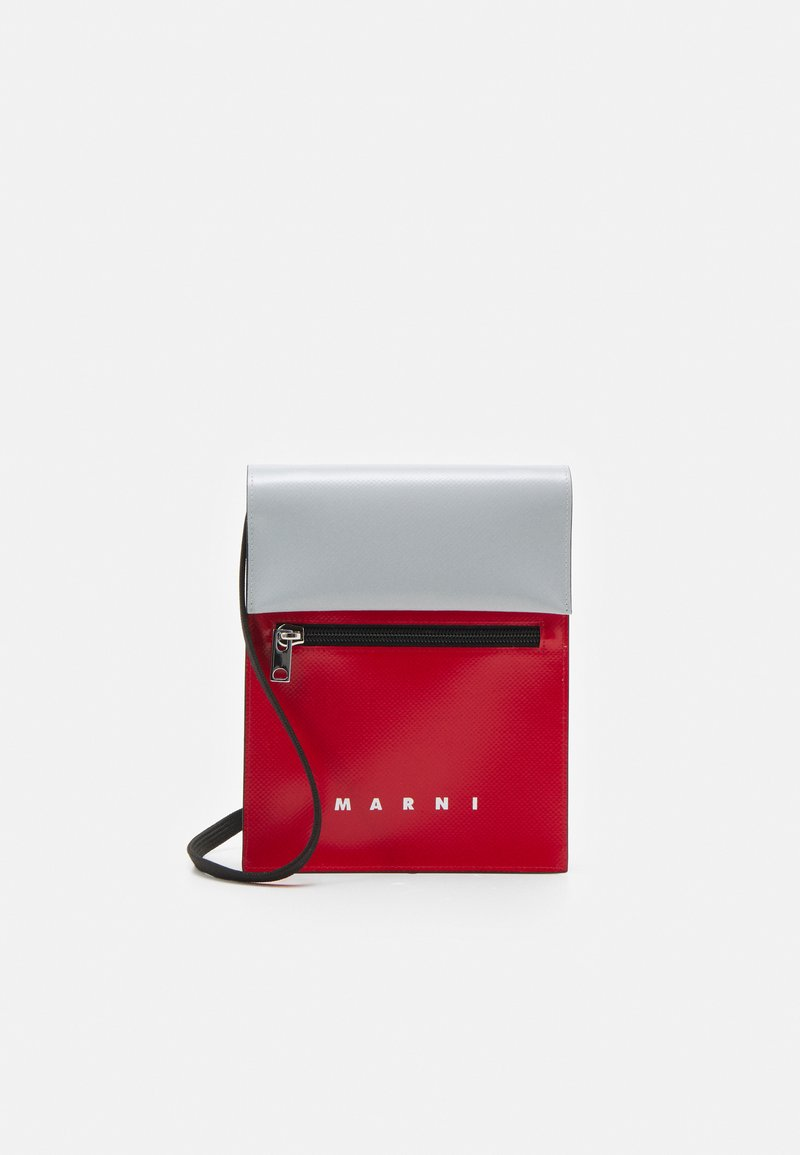 Marni - UNISEX - Across body bag - red/antique silver