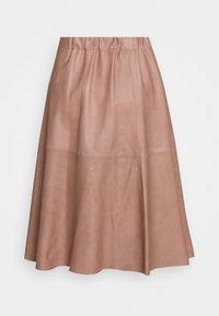 DEPECHE - SKIRT - Áčková sukně - dusty rose - 1