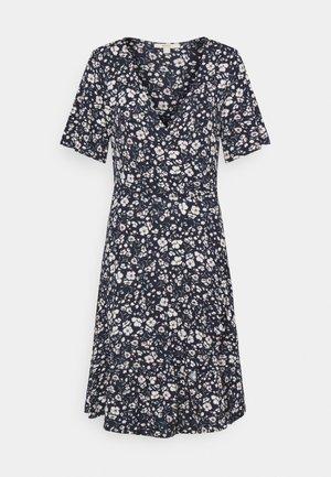 FRILLS - Sukienka z dżerseju - navy